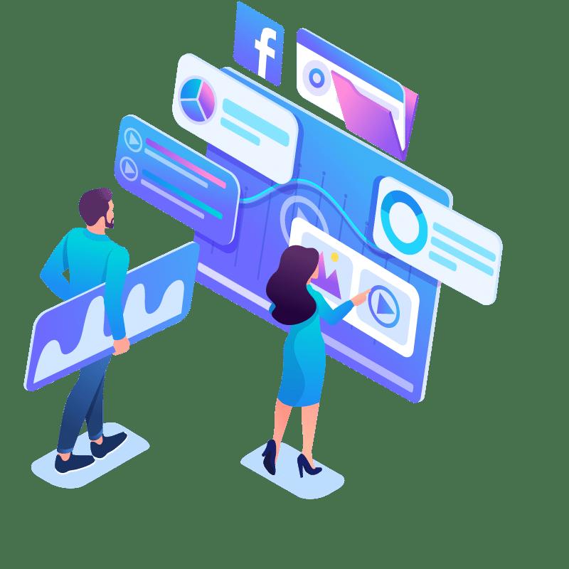 800-isometric-concept-young-entrepreneurs-insist-data-digital-marketing-advertising-internet-template-landing-page-website-NO-BG-2
